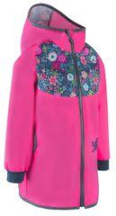 Unuo dziewczęcy płaszcz softshell STREET 128 - 134 różowy