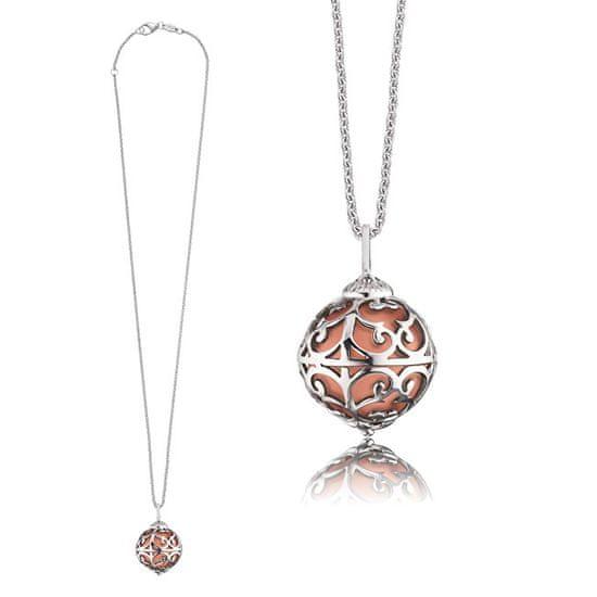 Engelsrufer Stříbrný náhrdelník Andělský zvonek s měděnou rolničkou ERN-ER-16-XS stříbro 925/1000
