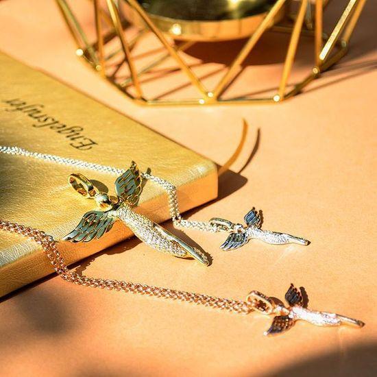 Engelsrufer Stříbrný náhrdelník Anděl ERN-LILANGEL stříbro 925/1000