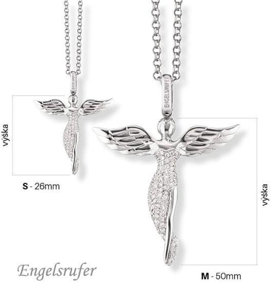 Engelsrufer Stříbrný přívěsek Anděl se zirkony ERP-ANGEL stříbro 925/1000