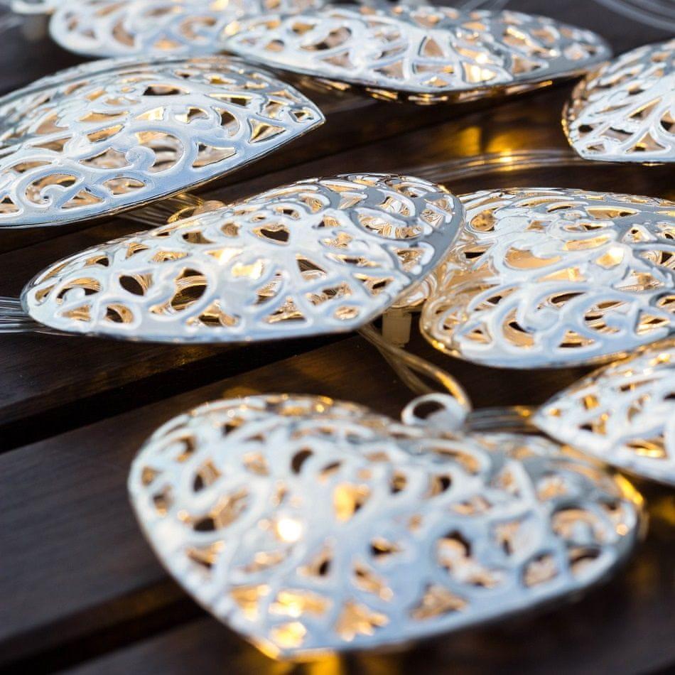 DecoLED DecoLED LED světelný řetěz, kovová srdce