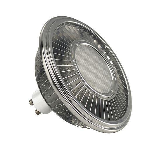 BIG WHITE BIG WHITE LED ES111, žárovka, stříbrošedá, 15 W, 140°, 2700K 570712