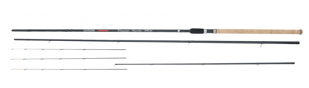 MIVARDI rybářský prut Daemon feeder 3,90m H 40 - 100g 3-díl