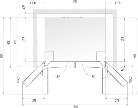 Gorenje chłodziarko-zamrażarka NRM8182MX