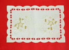 DUE ESSE Vánoční prostírání 44,5 x 29 cm, bílé