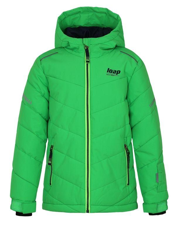 Loap dětská lyžařská bunda Furio 122/128 zelená