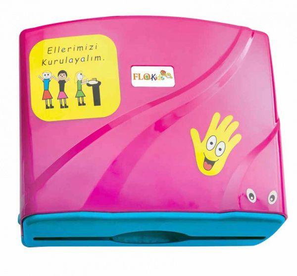 AllServices Zásobník na papírové ručníky ZZ dětský vzor - růžový