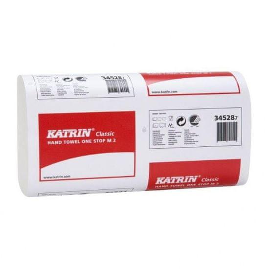 Katrin KATRIN CLASSIC ONESTOP M2 papírové ručníky ZZ bílé, 2 vr. - 3360 ks