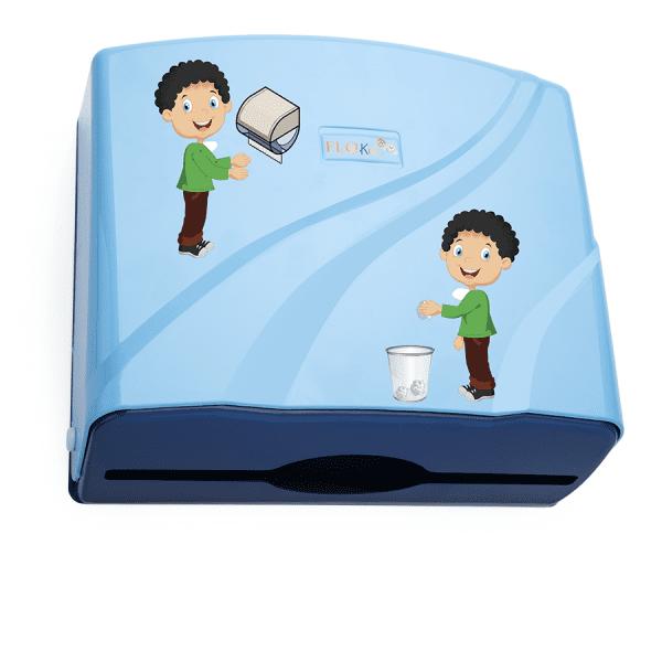 AllServices Zásobník na papírové ručníky ZZ dětský vzor - modrý