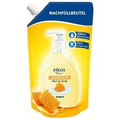 Elkos Elkos tekuté mýdlo, náhradní náplň med a mléko - 750 ml