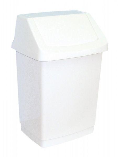 MERIDA Koš na odpadky s víkem hranatý bílý 25 l