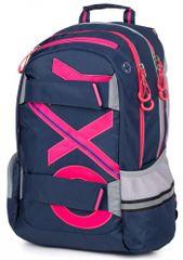 Karton P+P anatomski nahrbtnik OXY SPORT Blue line Pink, roza