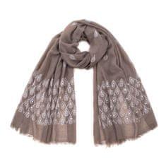 Art of Polo Lehký šátek s kapičkami hnědý