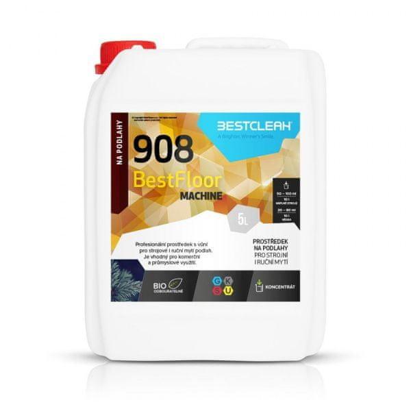 BestClean BESTCLEAN 908 strojové mytí podlah, nano ochrana - polar wood 5 l