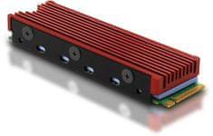 AXAGON CLR-M2, hliníkový pasívny chladič pre M.2 2280 SSD