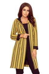 Numoco Női kabát 218-2, fekete-sárga, L