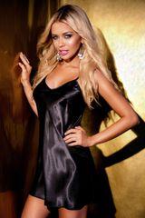 Stylomat Něžná košilka Ibiza černá, velikost M