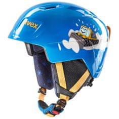 Uvex dziecięcy kask narciarski Manic, blue caterpillar 46-51