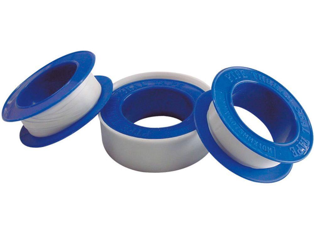 Extol Craft Teflonové izolační pásky, sada 3ks, 12mm x 10m, tloušťka 0,075mm