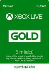 Microsoft Xbox Live zlaté členství 6 měsíců - elektronicky (S3T-00005)