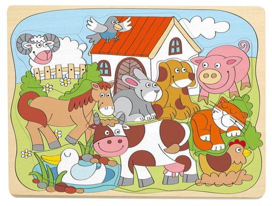Woody Vesele domače živali, sestavljanka na deski