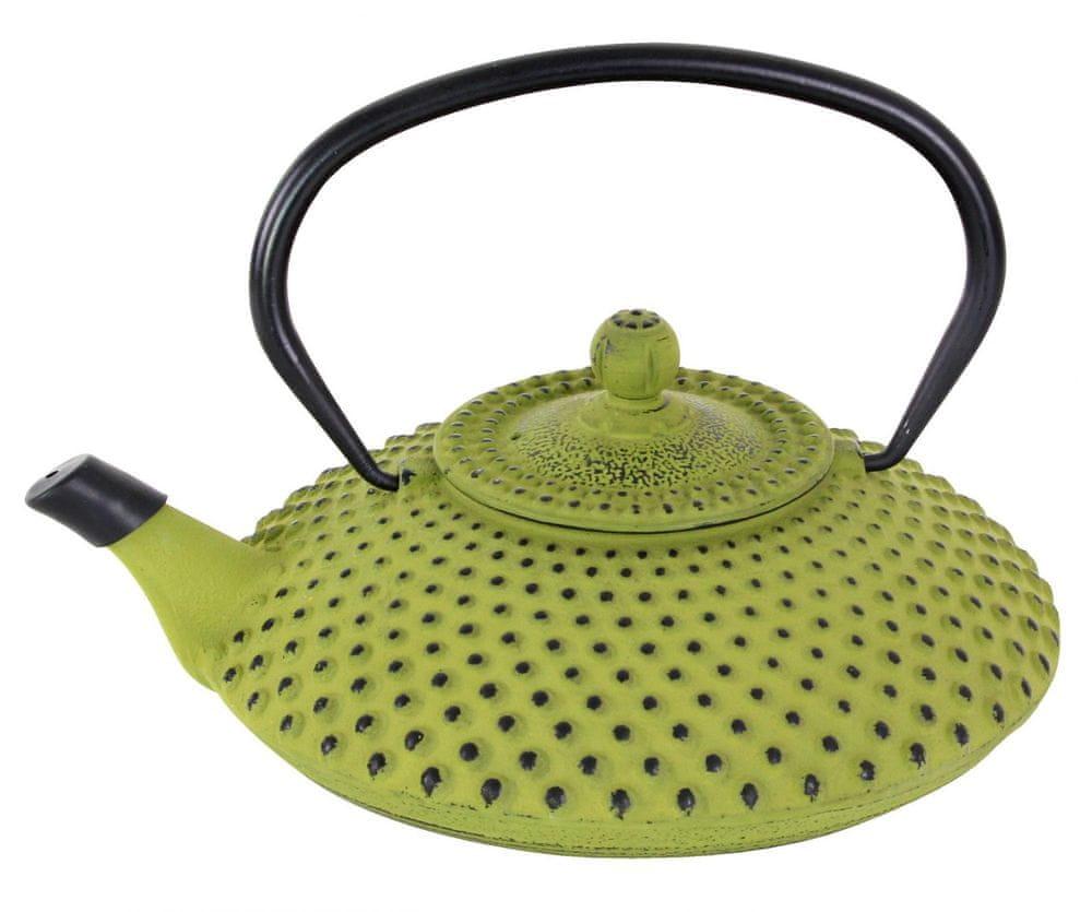Toro Litinová konvička na čaj 1,25 l zelená