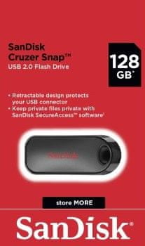 SanDisk dysk flash Cruzer Snap 128GB (SDCZ62-128G-G35)
