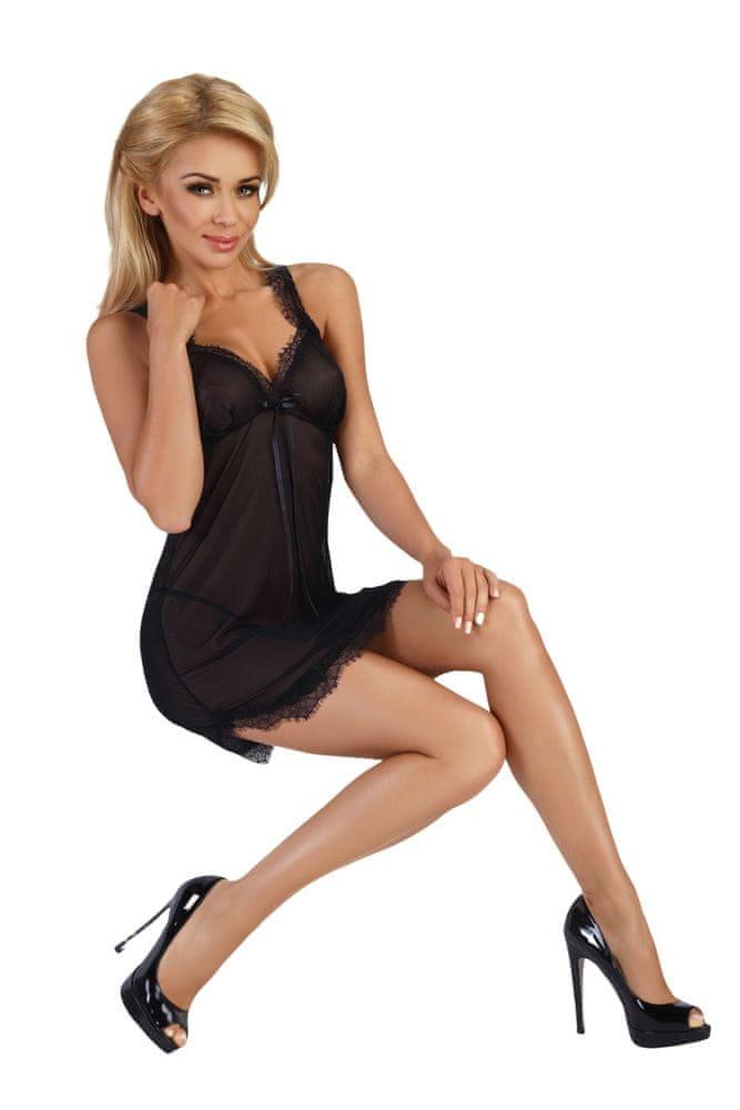 Beauty Night Fashion Dámská košilka Renee černá XXL + dárek zdarma