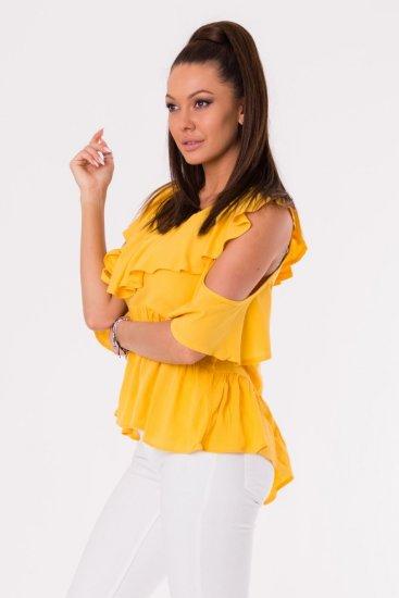 Ciminy Top s průstřihy na ramenou žlutý