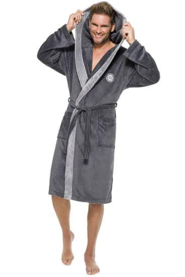 Stylomat Pánský dlouhý župan George tmavě šedý, velikost M