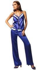Miran Saténová košilka M721-Miran tmavě modrá L