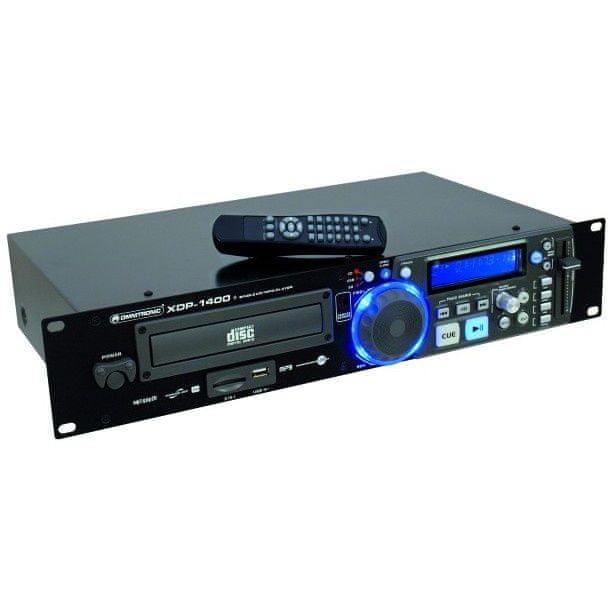 """Omnitronic XDP-1400, přehrávač CD/MP3/USB/SD, 19"""""""