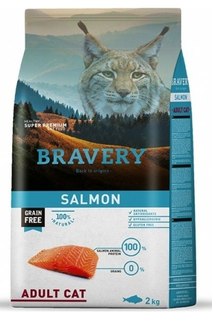 Bravery Cat ADULT Grain Free salmon 2 kg