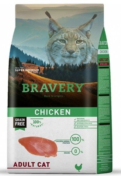 Bravery Cat ADULT Grain Free chicken 7 kg