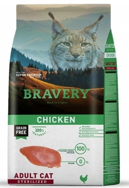 Bravery Cat STERILIZED chicken 7 kg