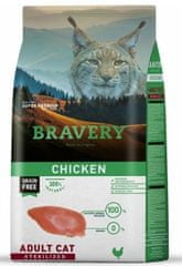 Bravery hrana za mačke Cat STERILIZED chicken, 7 kg
