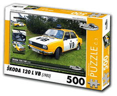 RETRO-AUTA© Puzzle č. 03 - ŠKODA 120L VB (1983) 500 dílků