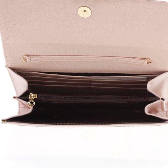 Michelle Moon Dámské luxusní psaničko Sandra, tmavě růžové