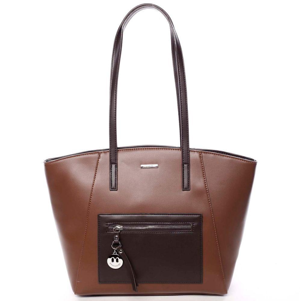 David Jones Luxusní kabelka s dlouhým uchem Aurelie, hnědá