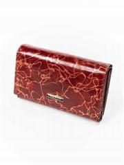 Lorenti Moderní červená kožená peněženka Sia