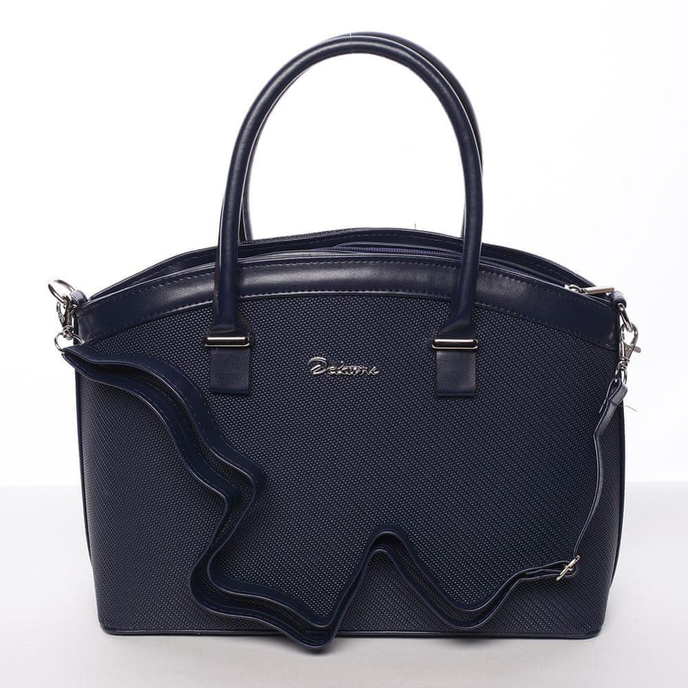 Delami Luxusní kabelka do ruky Monique, modrá