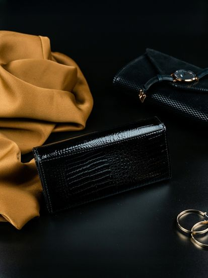 Lorenti Dámská luxusní peněženka z kůže Amanta černá
