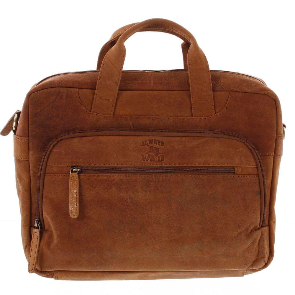Always Wild Pánská kožená taška Always WILD Fernando, světle hnědá