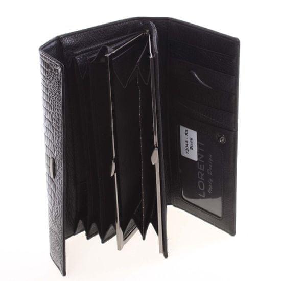 Lorenti Atraktivní dámská peněženka Teofila, černá
