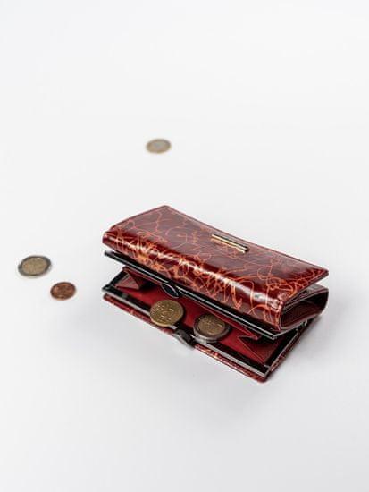 Lorenti Červená moderní kožená peněženka Clea