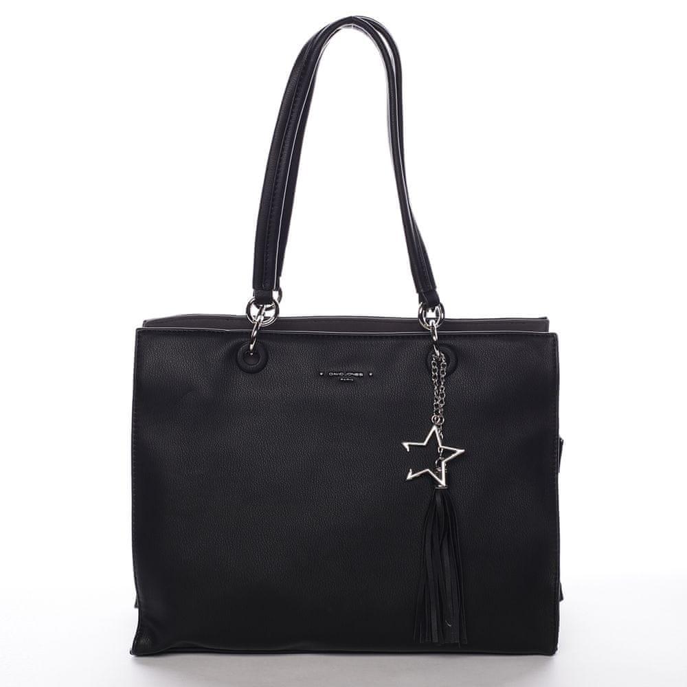 David Jones Elegantní kabelka pro dámy Fiona, černá