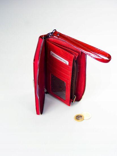Lorenti Dámská luxusní kožená pěněženka Rayley, červená