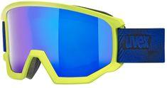 Uvex gogle narciarskie Athletic FM, lime mat/blue-blue (7130)