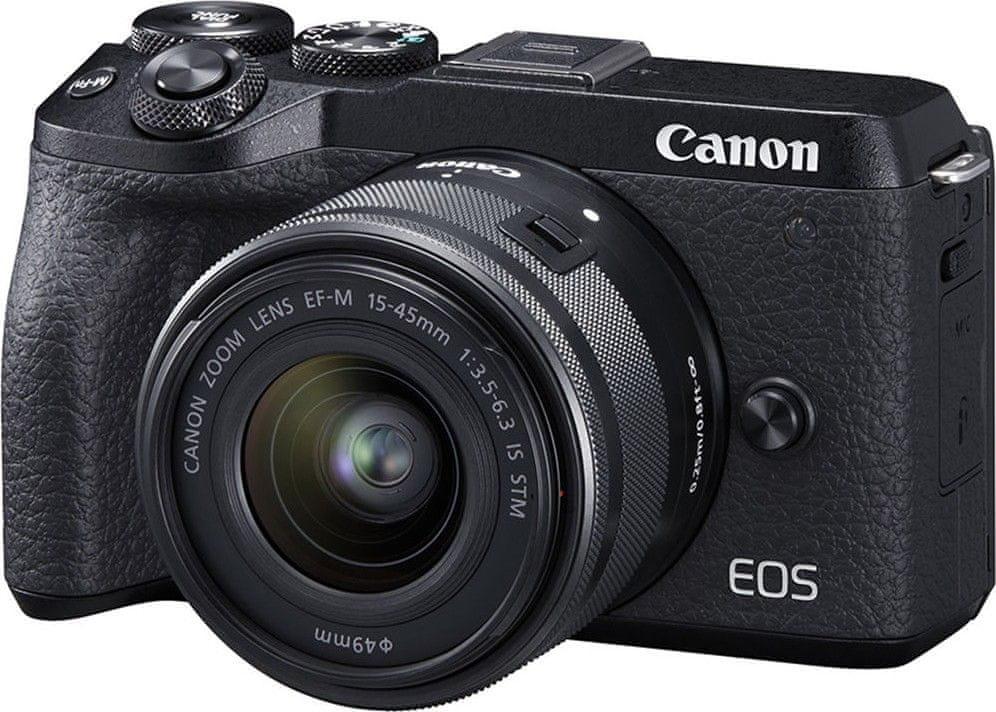 Canon EOS M6 Mark II + EF-M 15-45 IS STM (3611C012), černá