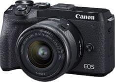 Canon EOS M6 Mark II + EF-M 15-45 IS STM + EVF hledáček (3611C012) + Cashback 2600 Kč!
